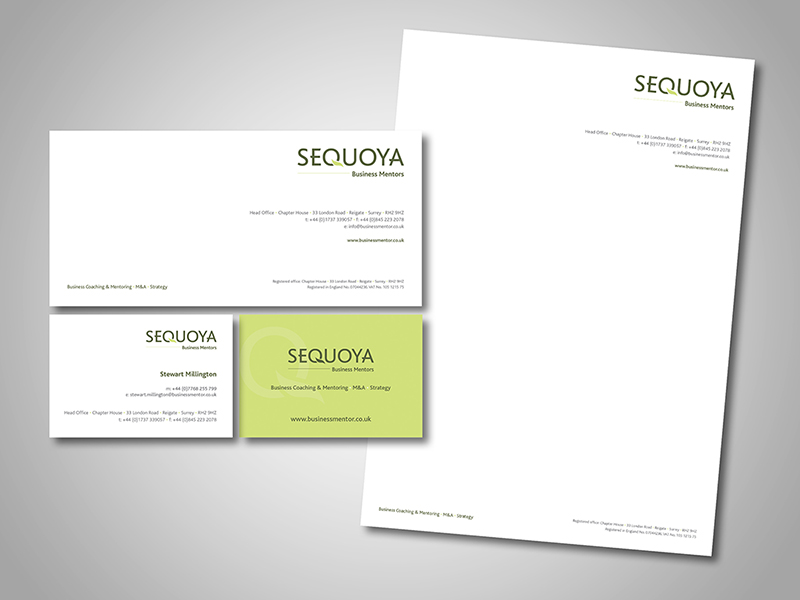 Sequoya Business Mentors Company Stationery Design