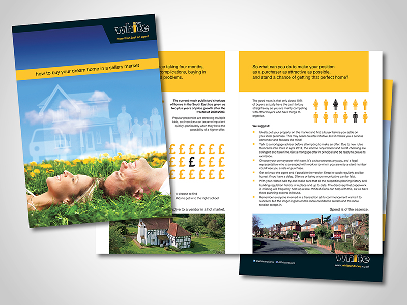 White and Sons 'Buying Your Dream Home' Brochure Design
