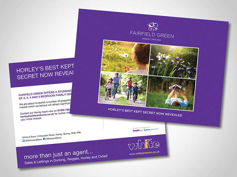 White and Sons 'Fairfield Green' Direct Mail Design and Marketing