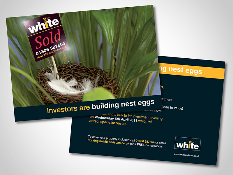 White and Sons 'Nest Egg' Direct Mail Design and Marketing