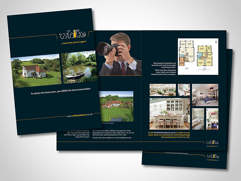 White & Sons 'Professional Photography' Brochure Design