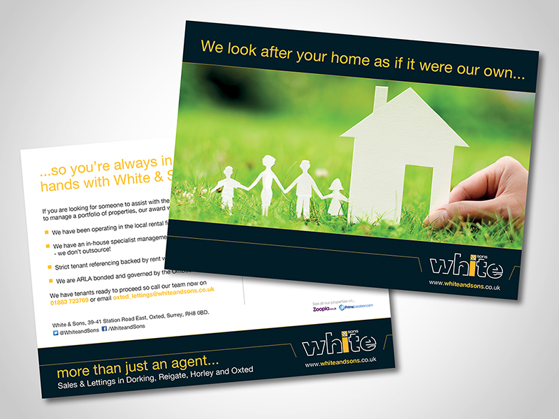 White and Sons 'Safe Hands' Direct Mail Design and Marketing