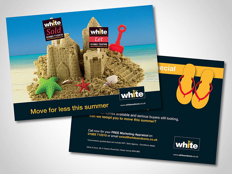White and Sons 'Sandcastles' Direct Mail Design and Marketing