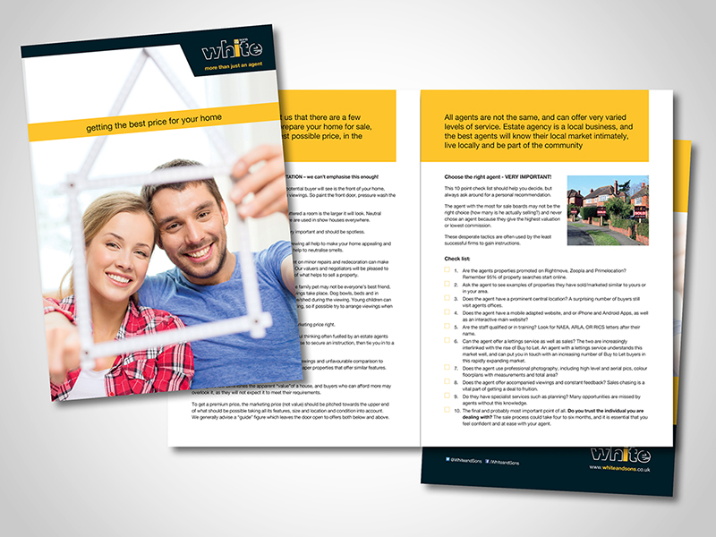 White and Sons 'Selling Your Home' Brochure Design