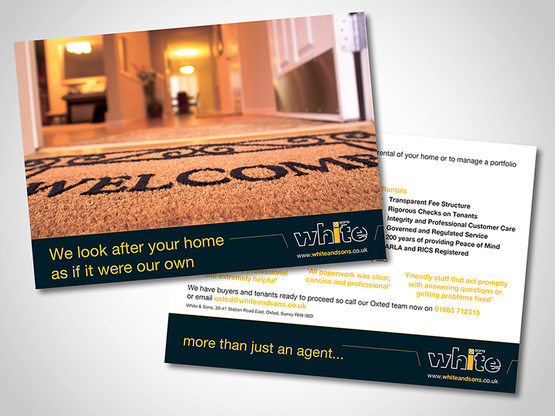 White and Sons 'Looking after your Home' Direct Mail Design and Marketing