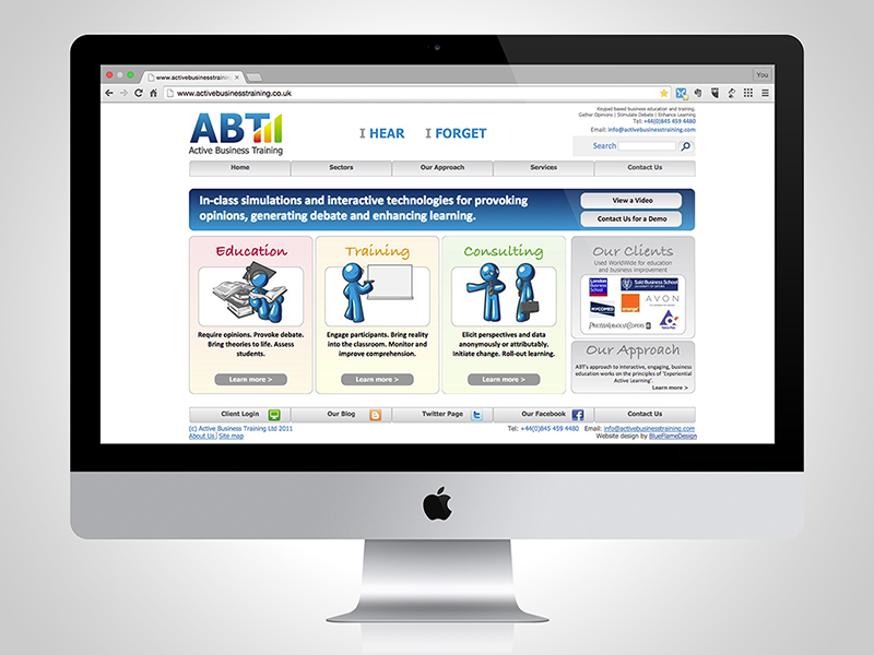 Active Business Training Website Design