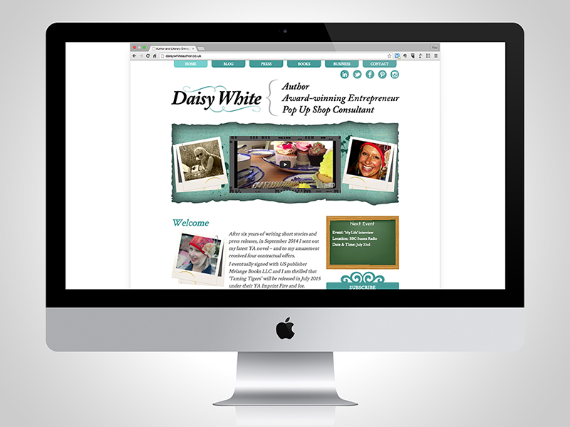 Daisy White (Author) Website Design