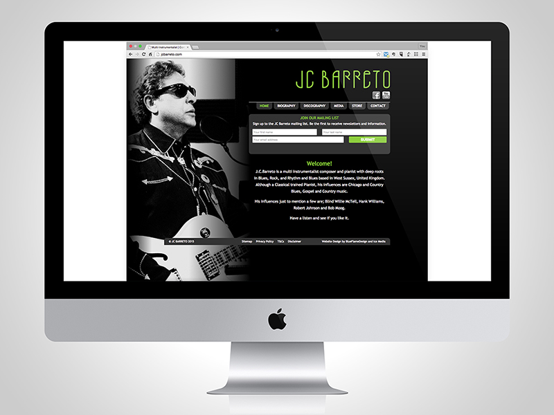 JC Barreto Website Design