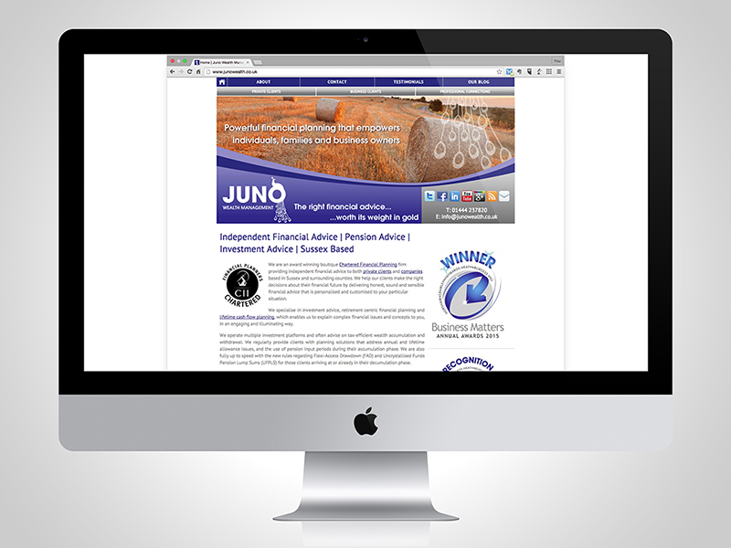 Juno Wealth Management Website Design
