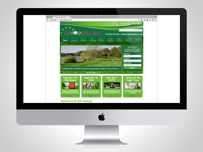 MY Golf Academy Website Design