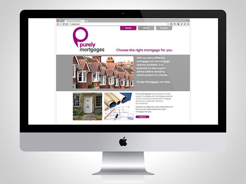 Purely Mortgages Website Design