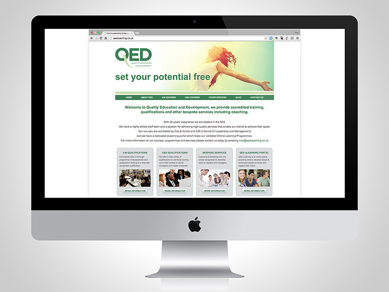 QED Coaching Website Design