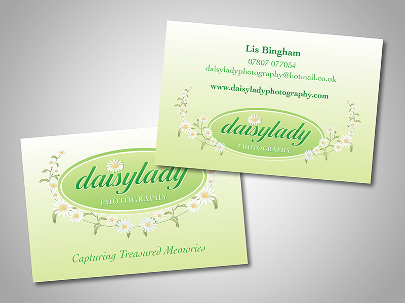 Daisylady Photography Company Stationery Design