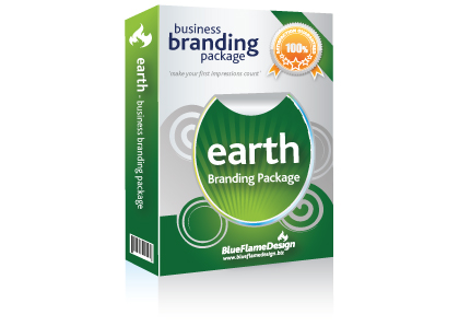 Earth Business Branding Package from BlueFlameDesign