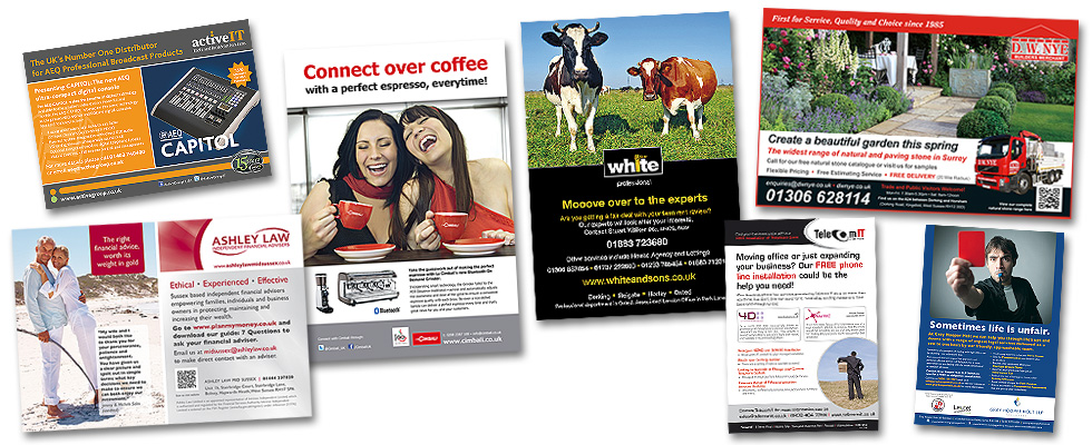Press Advert Design and Print Advertising Services from BlueFlameDesign in West Sussex