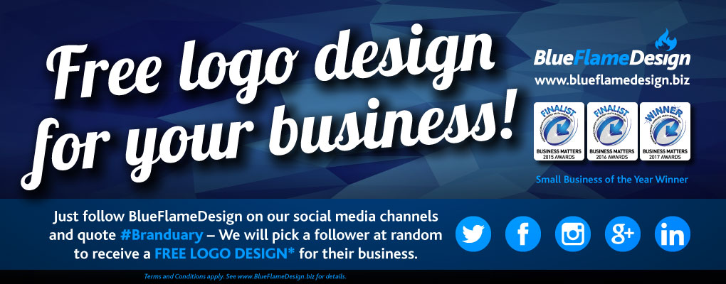 Free Logo Design for your Business throughout Branduary with BlueFlameDesign