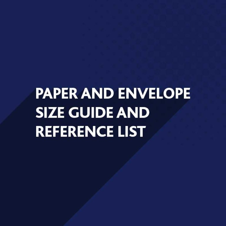 Paper and Envelope Size Guide