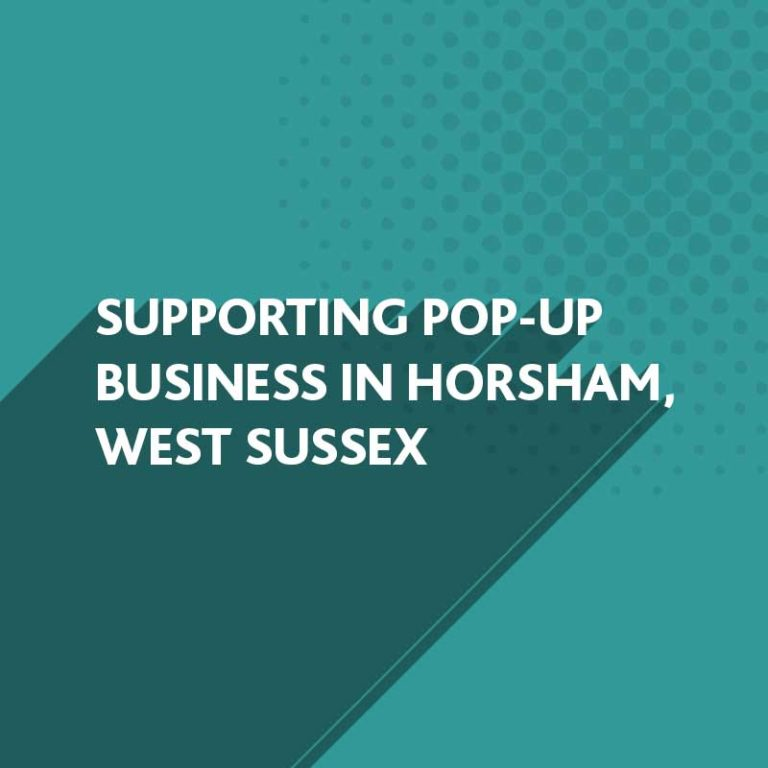 BlueFlameDesign are supporting Pop-Up Business in Horsham